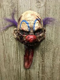 Clown Head with Moving Tongue