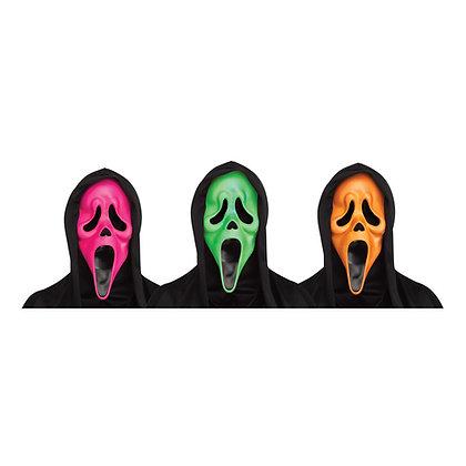 Flourescent ghostface mask