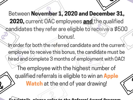 Referral Bonus 2020