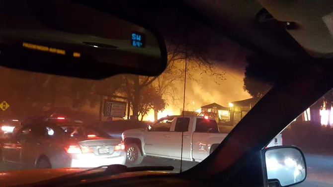 Real Life Horror as a City Burns