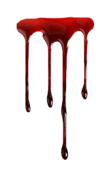 Blood dripping four.