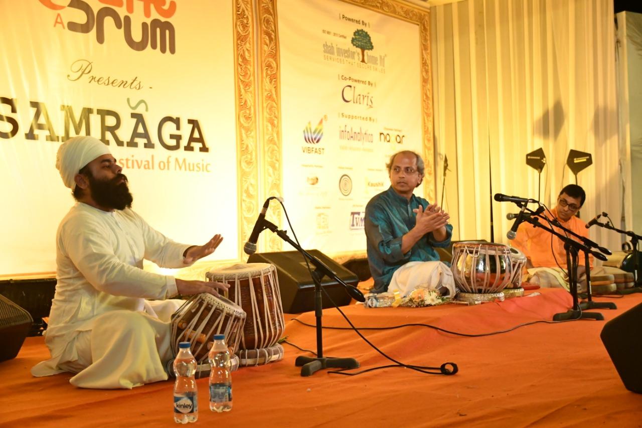 Performing with the Legend Pt.Yogesh Samsi Ji in Ahemdabad at Samraga Festival of Music.