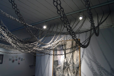 The Weight of Distance and Time Installation