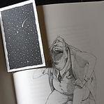 """shooting star"" 4 doodles set"