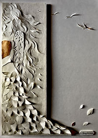 jokarta.com, papercraft, wallart, home decor, things to come, original artwork