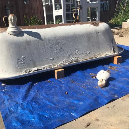 Claw foot tub restoration