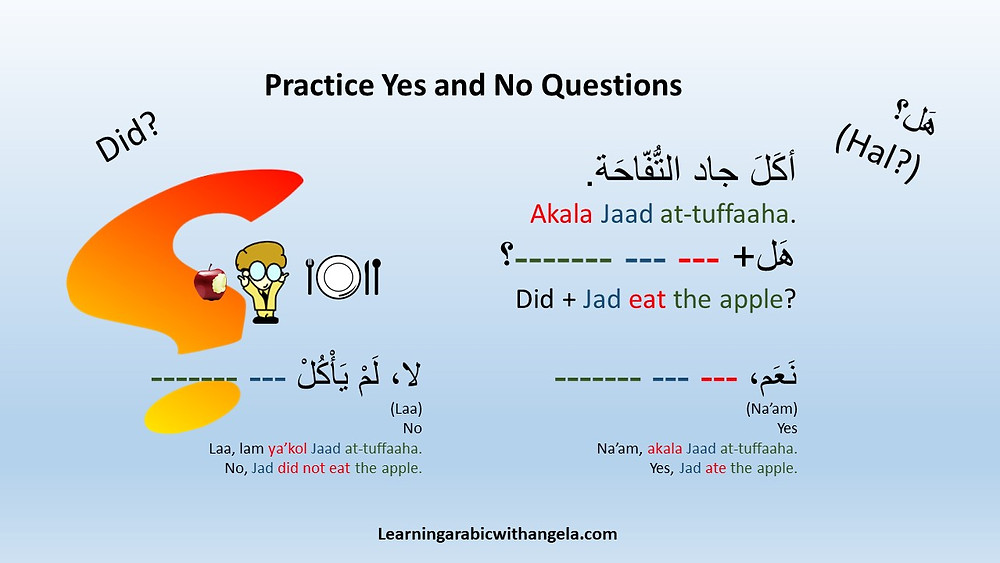 Practice Yes and No Questions in Arabic Language