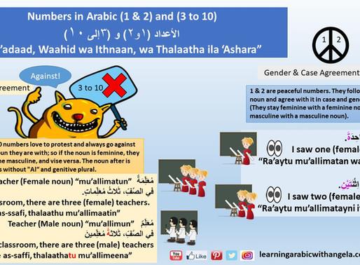 Numbers in Arabic Grammar (3-10)