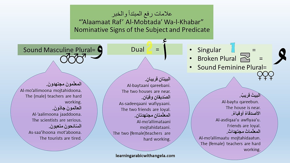 Nominative Signs of the Subject and Predicate in Arabic