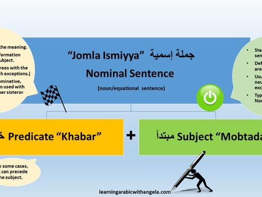 Nominal and Verbal Sentences in Arabic