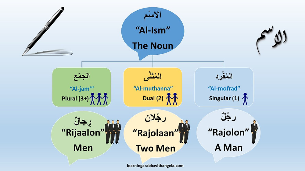 Flashcard: Singular, Dual, and Plural in Arabic Language