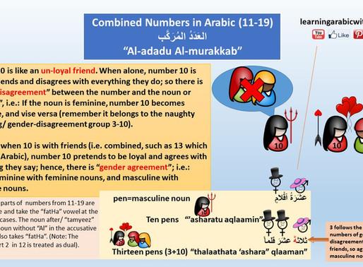 Numbers in Arabic Grammar (Combined Numbers 11-19)