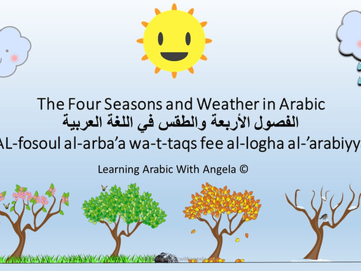 Learn about the Four Seasons and Weather in Arabic for Kids