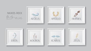 Naxos Rock Villas Logos