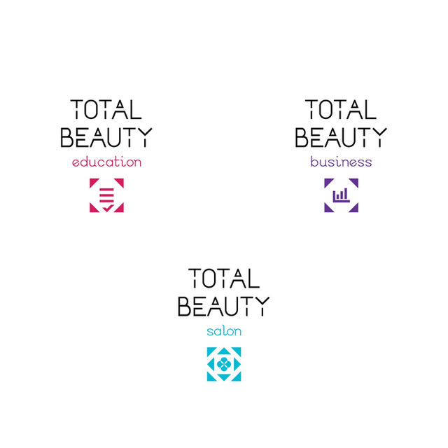 Total Beauty Center Brand naming, Logotypes