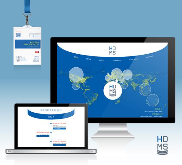 Hellenic Data Management Symposium Logotype, Website, Badge