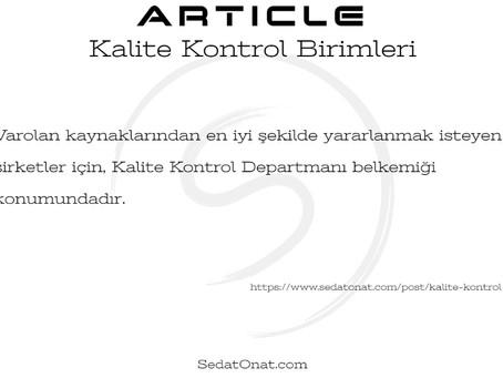 Kalite Kontrol Birimleri