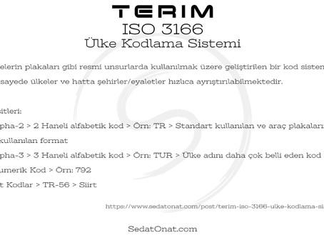 Terim - ISO 3166 > Ülke Kodlama Sistemi