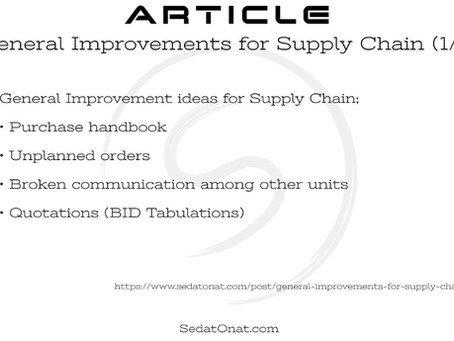 General Improvements for Supply Chain (1/5)