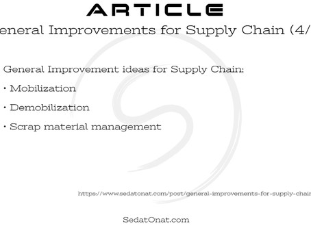 General Improvements for Supply Chain (4/5)
