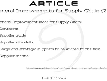 General Improvements for Supply Chain (2/5)