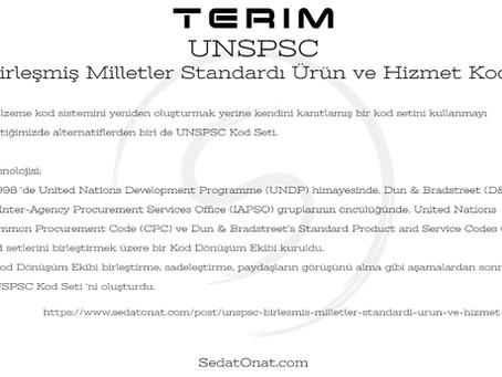 UNSPSC - Birleşmiş Milletler Standardı Ürün ve Hizmet Kodu