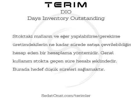 DIO - Days Inventory Outstanding