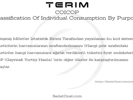 COICOP - Classification Of Individual Consumption By Purpose