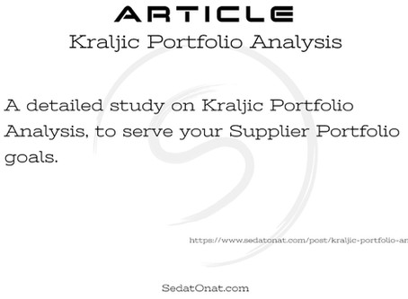 Kraljic Portfolio Analysis