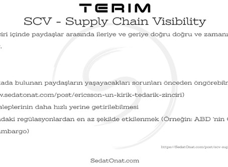 Terim - SCV > Supply Chain Visibility