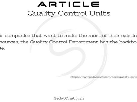 Quality Control Units