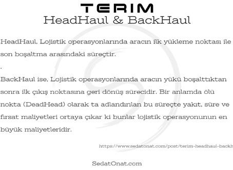 Terim - HeadHaul & BackHaul