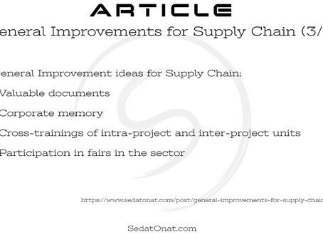 General Improvements for Supply Chain (3/5)