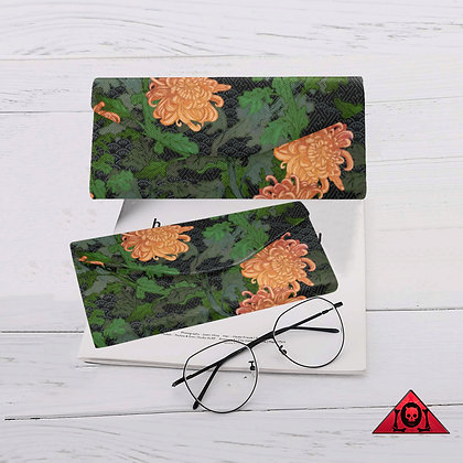 The Lowest of Low floral design Chrysanthemum 2020 magnetic glasses case folding  strong magnet closure elegant gift idea