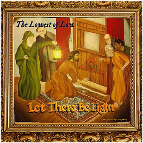 The Lowest of Low Let There Be Light album cover Jesus weather stripping a door medieval style painting image