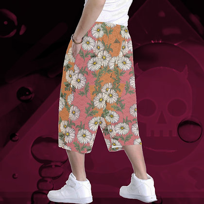 "Daisies All-Over Print Baggy Shorts (""Unisex"") in 5 Colours"