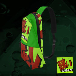 UGLY logo chest bag Lime Green The Lowest of Low