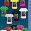 Thumbnail: Stained Glass Logo Tangrams V-Neck Ladies' Art T-Shirt (Gildan)