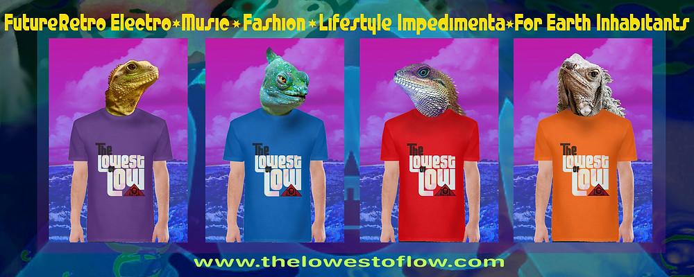 Lizard overlords model the latest hot streetwear fashion t-shirt designs from The Lowest of Low