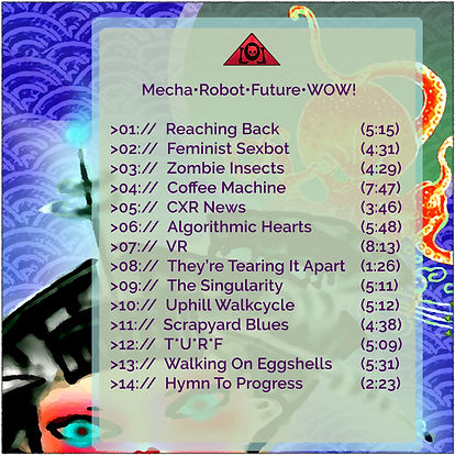 The Lowest of Low Mecha Robot Future WOW Album Track Listing tracklist songs album art image