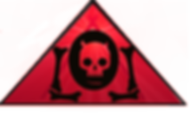 The Lowest of Low red triangle devil demon skull goat bones logo FutureRetro Electro Records art image