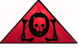 The Lowest of Low red triangle devil demon skull goat bones band music logo FutureRetro Electro Records art image