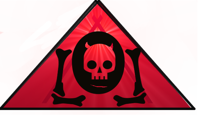 The Lowest of Low Triangle Skull Logo