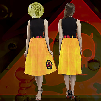 "The Golden ""Geometrica"" Poodle Skirt update with attitude from The Lowest of Low"