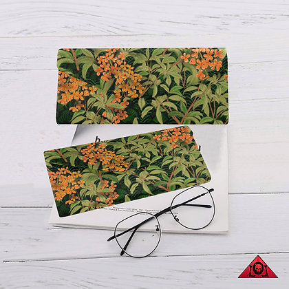The Lowest of Low floral design Kinmokusei magnetic glasses case folding  strong magnet closure elegant gift idea