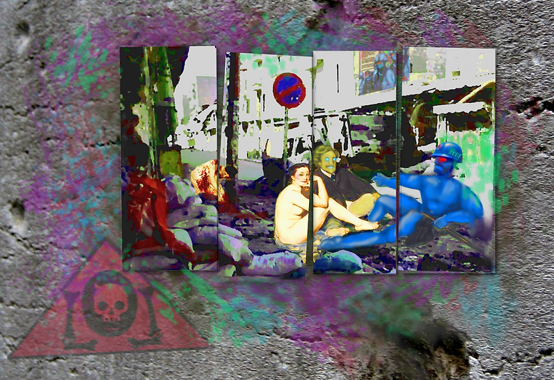 The Lowest of Low The Unified Robotic Front TURF Urban Art Painting Graffiti 2418 famous painting album art image red robots and whores