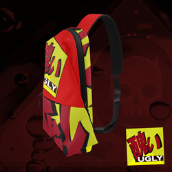 UGLY logo chest bag Red Original Gold The Lowest of Low