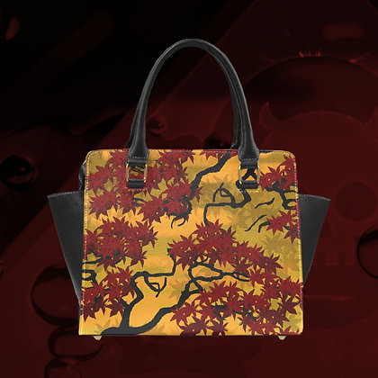 The Lowest of Low Classic shoulder hand bag Maple 2020 removable strap PU leather ecopelle art deco designer style well-made