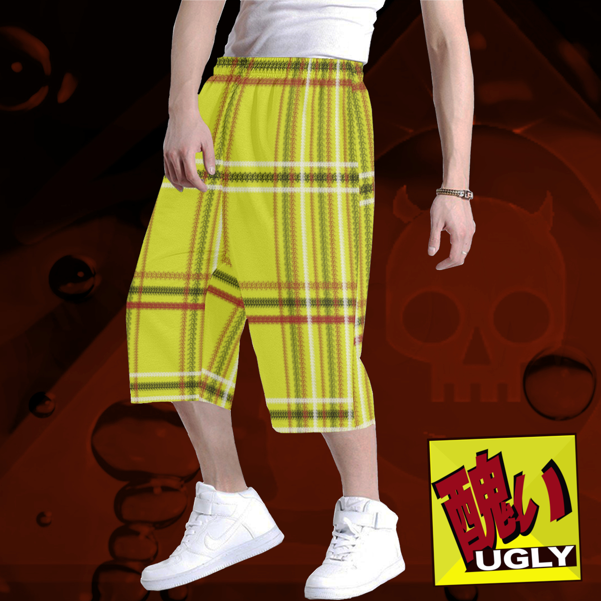 UGLY tartan long baggy shorts The Lowest of Low Original