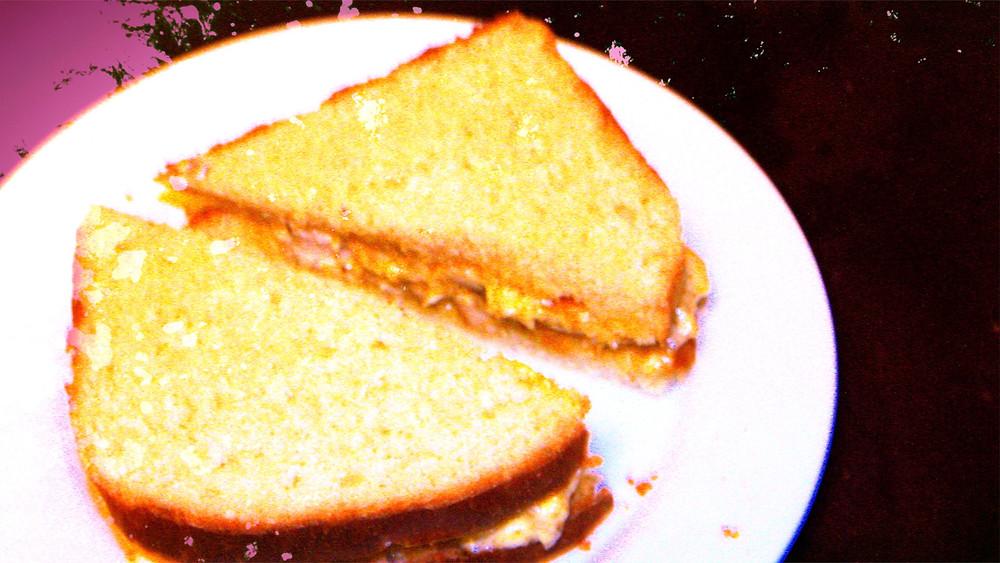sandwich on homemade bread yum